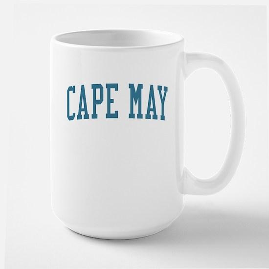 Cape May New Jersey NJ Blue Large Mug