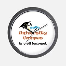 A safe University Campus Wall Clock