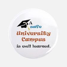 """A safe University Campus 3.5"""" Button"""