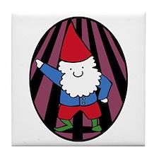 Disco Gnome Tile Coaster