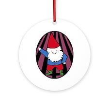 Disco Gnome Ornament (Round)