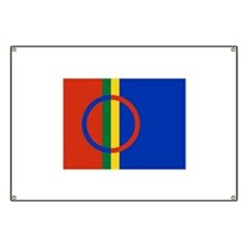 Flag of the Sami People Banner