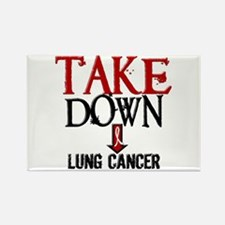 Take Down Lung Cancer 2 Rectangle Magnet