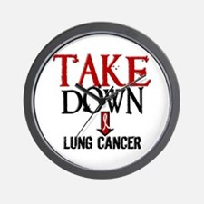 Take Down Lung Cancer 2 Wall Clock