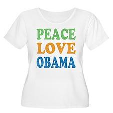 Vintage Love Peace Obama T-Shirt
