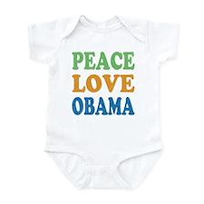 Vintage Love Peace Obama Infant Bodysuit