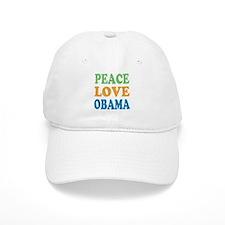 Vintage Love Peace Obama Baseball Cap