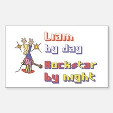 Liam - Rock Star by Night Rectangle Decal