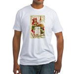 Thanksgiving Menu Fitted T-Shirt