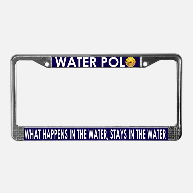 What Happens in the Water - License Plate Frame