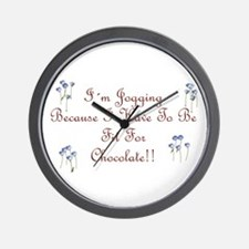 Fit For Chocolate script Wall Clock