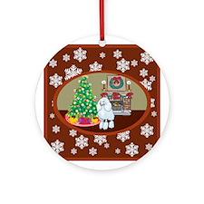 Classic Poodle Ornament (Round)