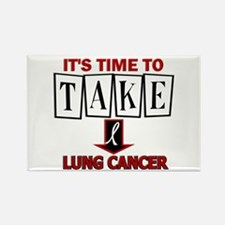 Take Down Lung Cancer 3 Rectangle Magnet
