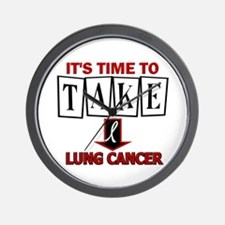 Take Down Lung Cancer 3 Wall Clock