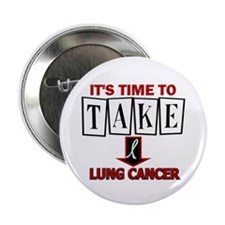 "Take Down Lung Cancer 3 2.25"" Button (10 pack)"
