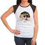 XmasDove/Basenji #2 Women's Cap Sleeve T-Shirt
