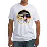 XmasDove/Basenji #2 Fitted T-Shirt