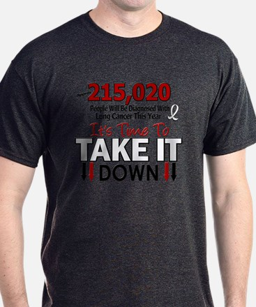 Take Down Lung Cancer 4 T-Shirt