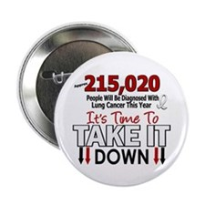 "Take Down Lung Cancer 4 2.25"" Button (10 pack)"
