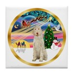 XmasMagic/Spinone #11 Tile Coaster