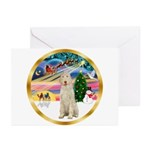 XmasMagic/Spinone #11 Greeting Cards (Pk of 20)