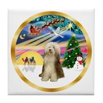 XmasMagic/Beardie #16 Tile Coaster
