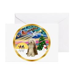 XmasMagic/Beardie #16 Greeting Cards (Pk of 10)