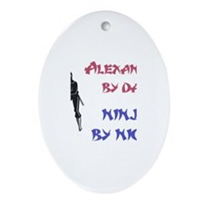 Alexander - Ninja by Night Oval Ornament