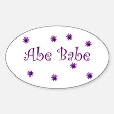 Abe Babe Oval Decal