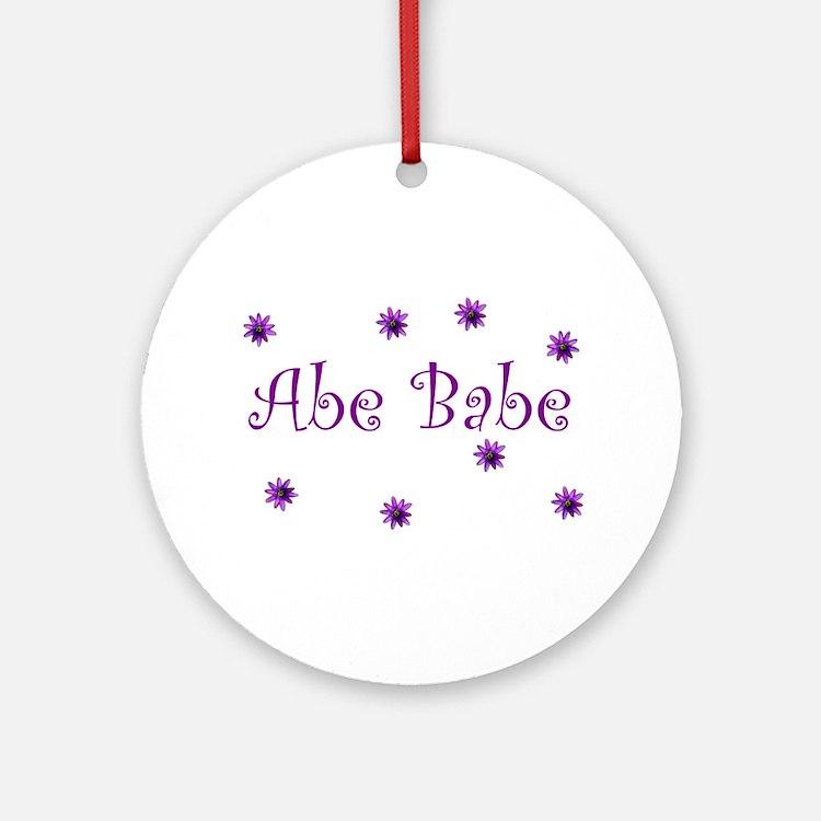 Abe Babe Ornament (Round)