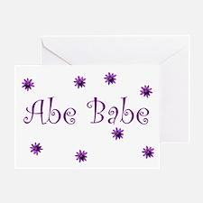 Abe Babe Greeting Card