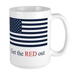 Get the Red out Large Mug