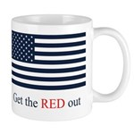 Get the Red out Mug