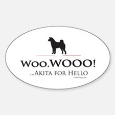 oddFrogg Akita Oval Bumper Sticker (10 pack)