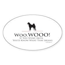 oddFrogg Akita Woo WOO Bumper Decal