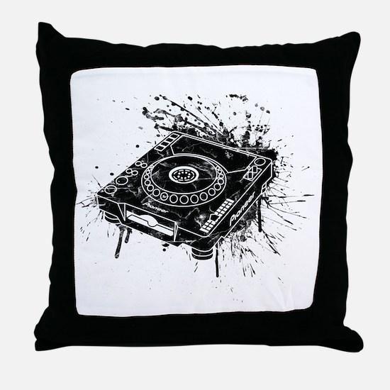 CDJ-1000 Graffiti Throw Pillow