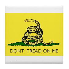 Gadsden Flag Tile Coaster