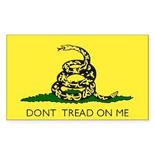 Gadsden Flag Rectangle Decal