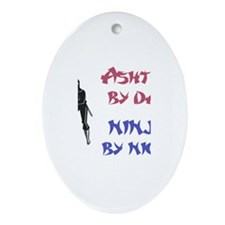 Ashton - Ninja by Night Oval Ornament