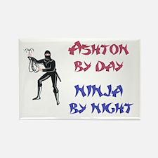 Ashton - Ninja by Night Rectangle Magnet