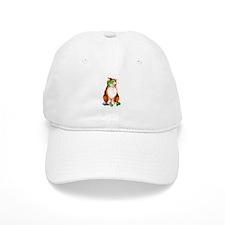 Orange Chirstmas Kitten Baseball Cap
