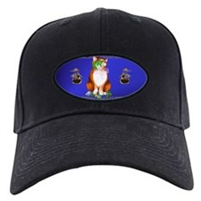Orange Chirstmas Kitten Baseball Hat