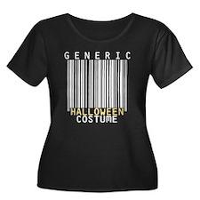 Halloween Womens Plus Size Scoop Neck Dark T-Shirt