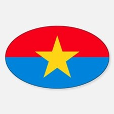 Viet Cong Flag Oval Decal