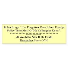 """Biden Brags"" Bumper Bumper Sticker"
