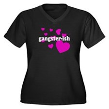 Gangster-ish T-Shirts - Women's Plus Size V-Neck D