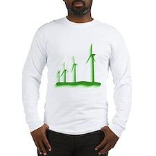 Green Wind Power Long Sleeve T-Shirt