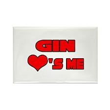"""""""Gin Loves Me"""" Rectangle Magnet"""