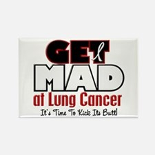 Get Mad At Lung Cancer 2 Rectangle Magnet