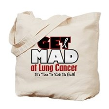 Get Mad At Lung Cancer 2 Tote Bag